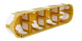 4 секційна установочна коробка для розеток