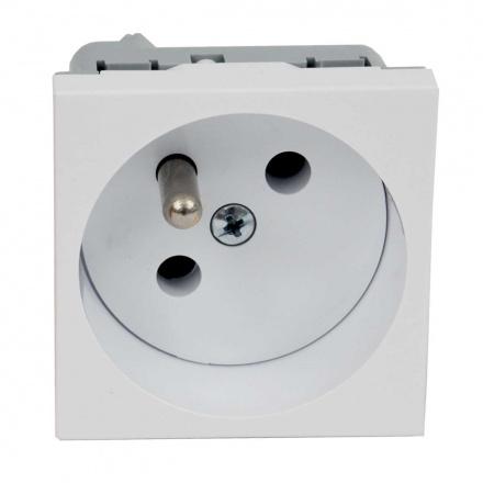 QP 45X45 HB - zásuvkový modul QUADRO s ochraným kolíkem