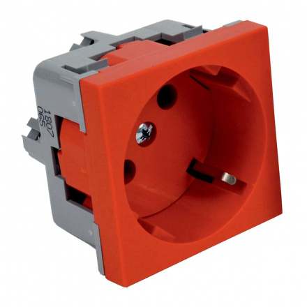QS 45X45 BB - zásuvkový modul QUADRO s ochrannými kontakty (schuko)