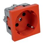 QS 45X45 C BB - zásuvkový modul QUADRO s ochrannými kontakty a clonkami (schuko)