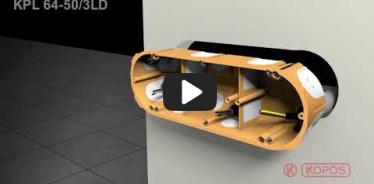 Вбудована мініатюра для Відео-інструкція по інсталяції електромонтажних коробок для пустотілих стін KPL 64-50/3LD
