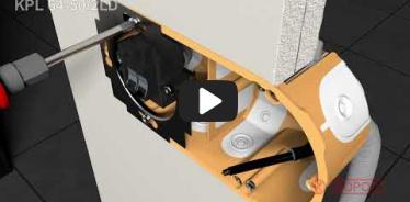 Вбудована мініатюра for Відео-інструкція по інсталяції електромонтажних коробок для пустотілих стін KPL 64-50/2LD