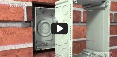 Вбудована мініатюра for Відео Інструкція по інсталяції універсальної коробки KUZ-V з кришкою